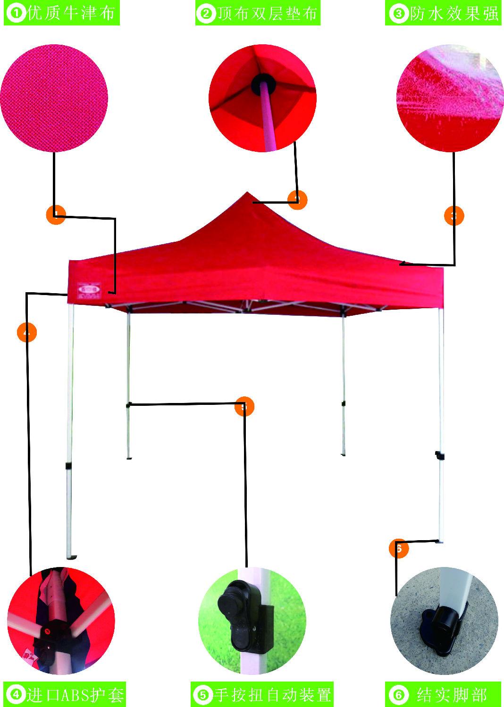 折叠伞支架结构图