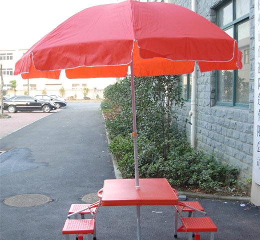 经济档遮阳伞 旅游休闲折叠桌椅