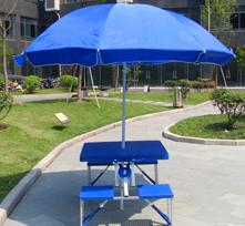 休闲桌椅类 广告伞配折叠桌椅ZD14