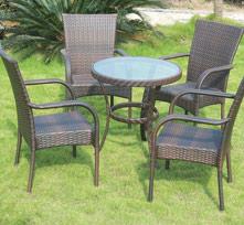 户外休闲桌椅5件套BT005