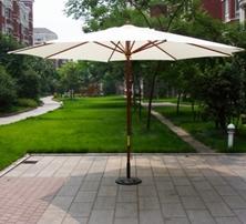 杭州百佳木杆户外休闲伞 出口品质ZY006