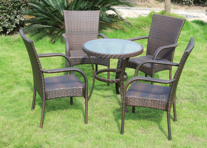 编藤桌椅5件套-GJT023